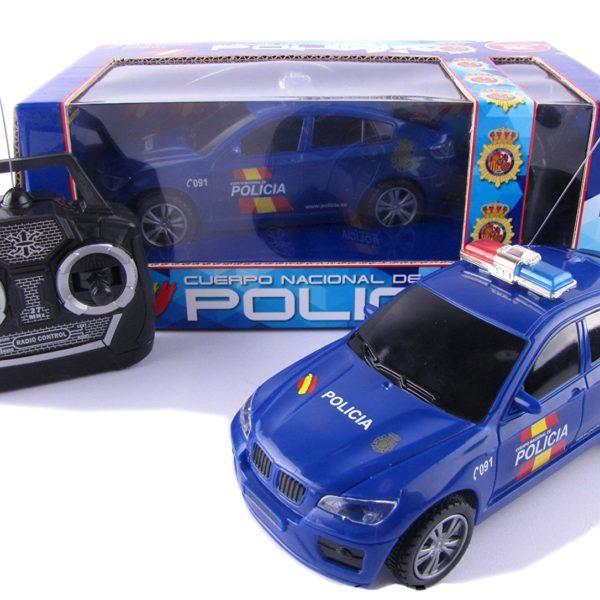 coche radiocontrol de la policía